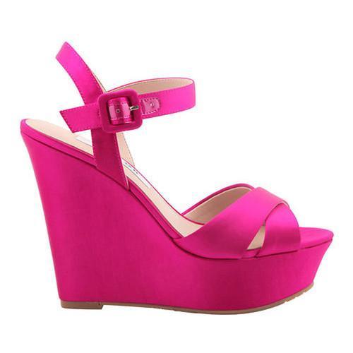 ... Shoes; /; Women's Shoes; /; Sandals. Women's Nina Jinjer Wedge  Sandal Magenta Crystal Satin