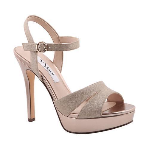a96715592d9 Shop Women s Nina Shara Platform Sandal Gold Glitter Vinyl - Free Shipping  Today - Overstock - 15038385