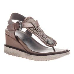 Women's OTBT Excursion Wedge Thong Sandal Grey Silver Leather