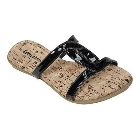 Women's Tidewater Sandals Cape Cod Slide Sandal Black Patent Synthetic