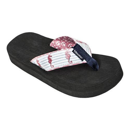 Women's Tidewater Sandals Seahorses Flip Flop Pink/Navy/Aqua