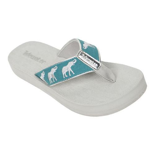 aabbc11da2e3e Shop Women s Tidewater Sandals Topsail Elephant Flip Flop Turquoise Silver  - Free Shipping On Orders Over  45 - Overstock - 15060438