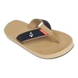 Women's Tidewater Sandals Fisher Flip Flop Navy/White/Red Anchor
