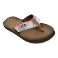 Women's Tidewater Sandals Folly Flip Flop Blue/Pink/White Scallop