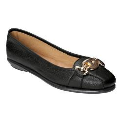 Women's A2 by Aerosoles In Between Flat Black Soft Faux Leather