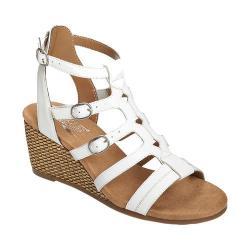 Women's Aerosoles Sparkle Gladiator Sandal White Faux Leather