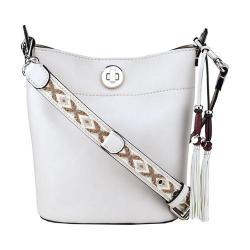 Women's Nine West Belynda Mini Bucket Bag Milk/Platino/Milk Multi