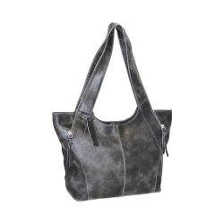 Women's Nino Bossi Crackle Zipper Tote Black