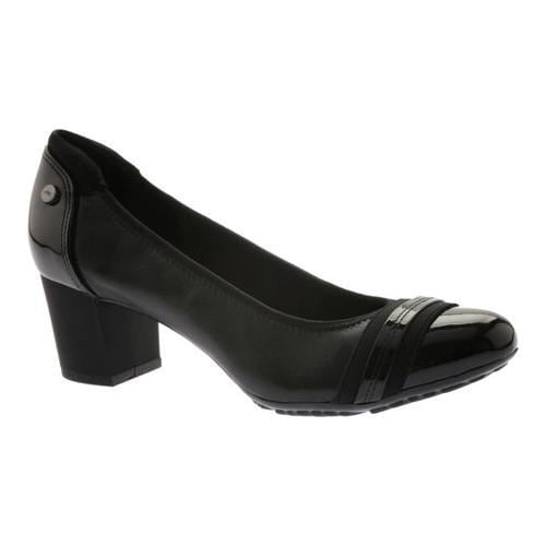 d633d227fe Shop Women's Anne Klein Guardian Pump Black Leather - Free Shipping Today -  Overstock - 15025855