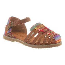 Girls' Bearpaw Tasha Huarache Sandal Tan Aztec Synthetic