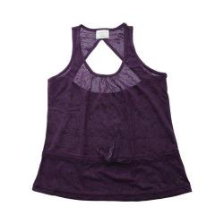 Girls' Capezio Dance Darina Tank Top Eggplant Lace Roses