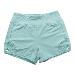 Women's Capezio Dance Diamond High Waisted Short Seafoam