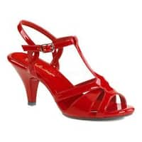 Women's Fabulicious Belle 322 T-Strap Sandal Red Patent/Red