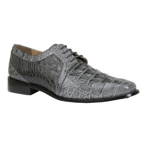 Men's Giorgio Brutini Heft Derby Shoe Grey Croco Print Synthetic