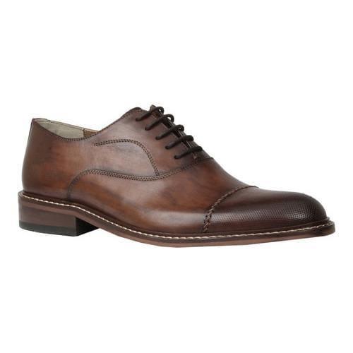 Men's Giorgio Brutini Roody Cap Toe Oxford Brown Cochin Leather
