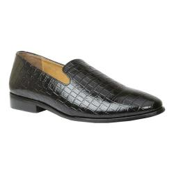Men's Giorgio Brutini Heed Smoking Loafer Black Croco Synthetic