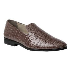 Men's Giorgio Brutini Heed Smoking Loafer Brown Croco Synthetic