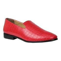 Men's Giorgio Brutini Heed Smoking Loafer Red Croco Print Synthetic