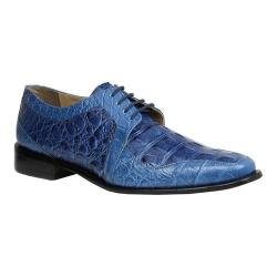 Men's Giorgio Brutini Heft Derby Shoe Navy Croco Print Synthetic