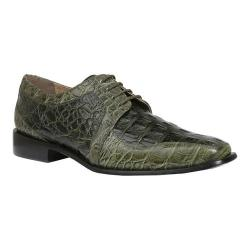 Men's Giorgio Brutini Heft Derby Shoe Olive Croco Print Synthetic