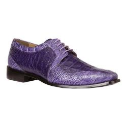Men's Giorgio Brutini Heft Derby Shoe Purple Croco Print Synthetic