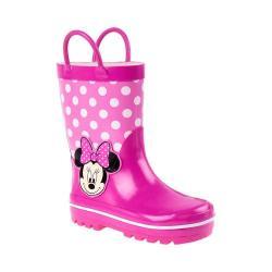 Girls' Josmo O-CH15141C Minnie Mouse Rain Boot Fuchsia