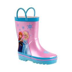 Girls' Josmo O-CH26921C Frozen Rain Boot Pink/Blue