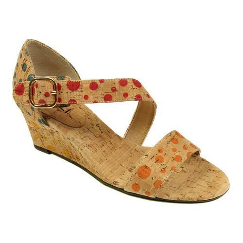 a3e2a2f3df Shop Women's VANELi Marise Wedge Sandal Orange/Red/Blue/Yellow Dot Cork -  Free Shipping Today - Overstock - 15101654