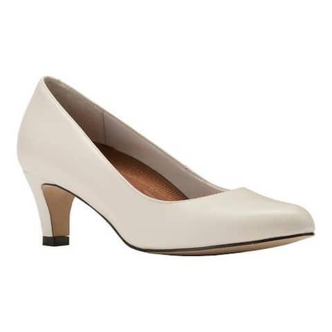 Women's Walking Cradles Joy Pump White Leather
