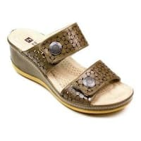 Women's White Mountain Fredonia Wedge Slide Stone Smooth Synthetic
