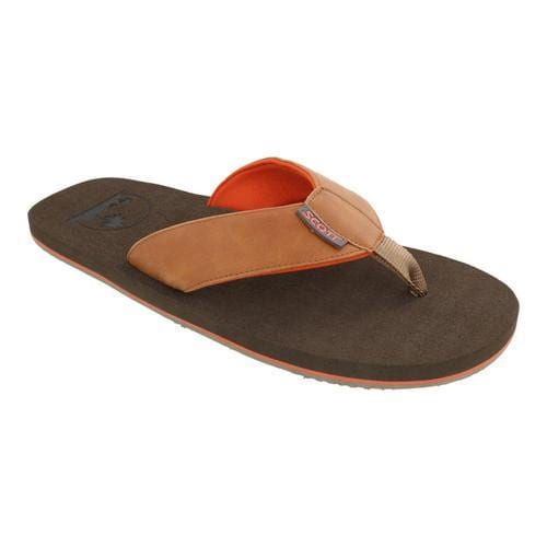 f991ebd7862a Shop Men s Scott Hawaii Punini Flip Flop Tan Vegan Leather - Free Shipping  On Orders Over  45 - Overstock - 15026023