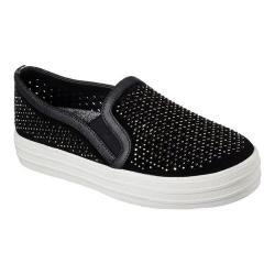 Women's Skechers Double Up Diamond Girl Flatform Slip-On Sneaker Black