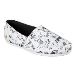 Women's Skechers BOBS Plush Dream Doodle Alpargata White