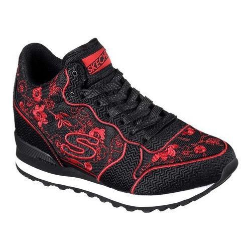 c258458a380c Shop Women s Skechers OG 85 In Bloom Sneaker Black Red - Free ...