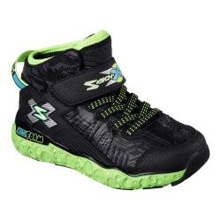 Boys' Skechers Skech X Cosmic Foam High Top Sneaker Black/Lime