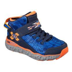 Boys' Skechers Skech X Cosmic Foam High Top Sneaker Black/Navy/Orange