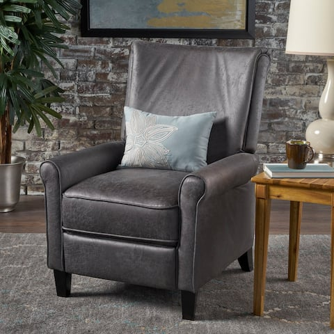 Charell Traditional Microfiber Recliner by Christopher Knight Home