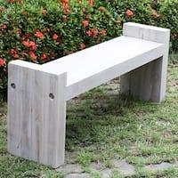 Teak Block Bench 48 in x 12 x 19 in H (Seat = 16) KD Agate Grey Oil