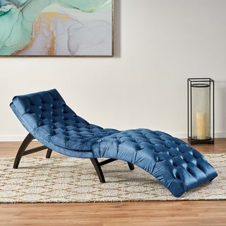 Link to Garret Tufted Velvet Chaise Lounge by Christopher Knight Home Similar Items in Living Room Chairs