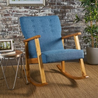 Link to Harvey Mid Century Modern Fabric Rocking Chair by Christopher Knight Home Similar Items in Accent Chairs