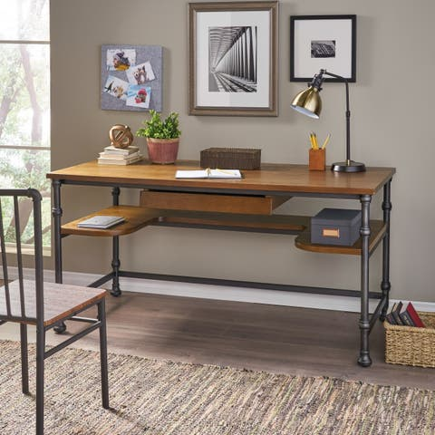 Lochlin Industrial Wood Desk by Christopher Knight Home