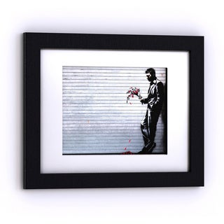Porch & Den Banksy 'Hustler Club' White Matte Black Frame Wall Art