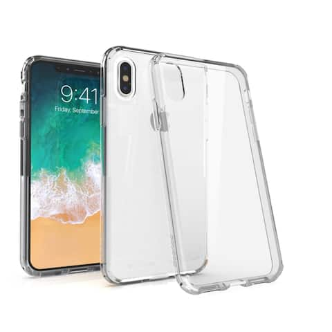 """BasAcc Crystal PC/ TPU Hybrid Phone Clip-on Hard Case Cover for Apple iPhone XS/ iPhone X 5.8"""" 5.8-inch"""