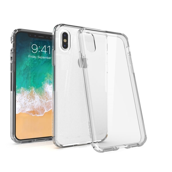 "BasAcc Crystal PC/ TPU Hybrid Phone Clip-on Hard Case Cover for Apple iPhone X 5.8"" 5.8-inch"