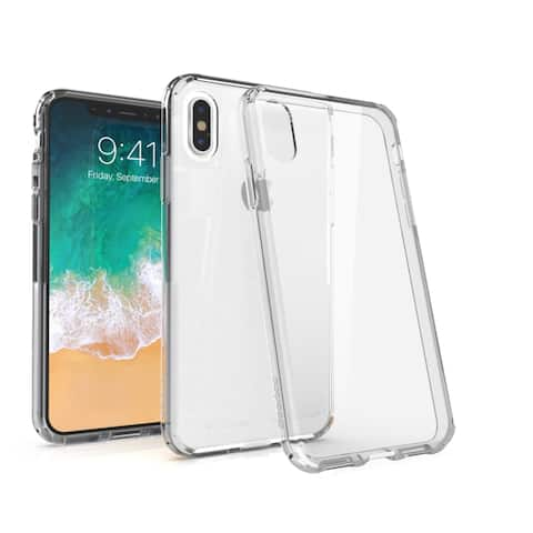 "BasAcc Crystal PC/ TPU Hybrid Phone Clip-on Hard Case Cover for Apple iPhone XS/ iPhone X 5.8"" 5.8-inch"