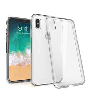 """BasAcc Crystal PC/ TPU Hybrid Phone Clip-on Hard Case Cover for Apple iPhone X 5.8"""" 5.8-inch"""