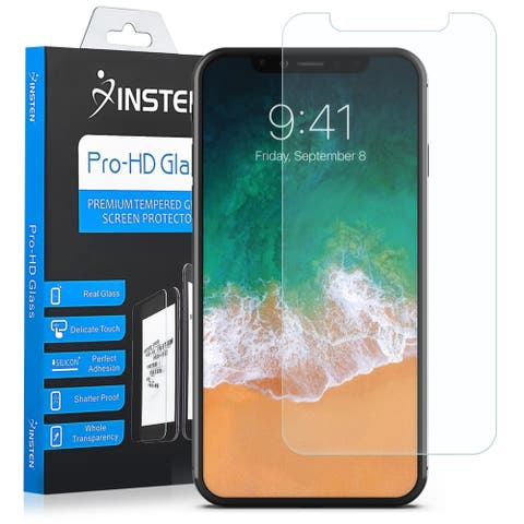 "Insten Clear Apple iPhone XS/ iPhone X 5.8"" / iPhone 11 Pro Tempered Glass Full Coverage Anti-Scratch Screen Protector"