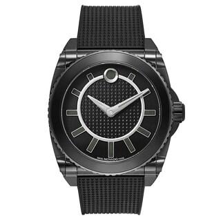 Movado Master 0606731 Men's Black Rubber Watch
