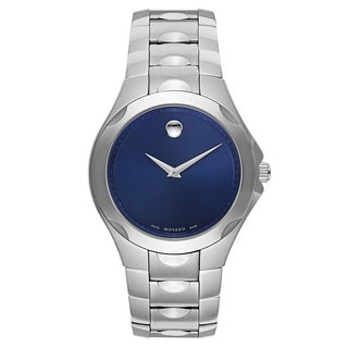Movado Luno 0606380 Men's Blue Dial Stainless Steel Watch