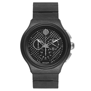 Movado Parlee 0606929 Men's Black Titanium Watch